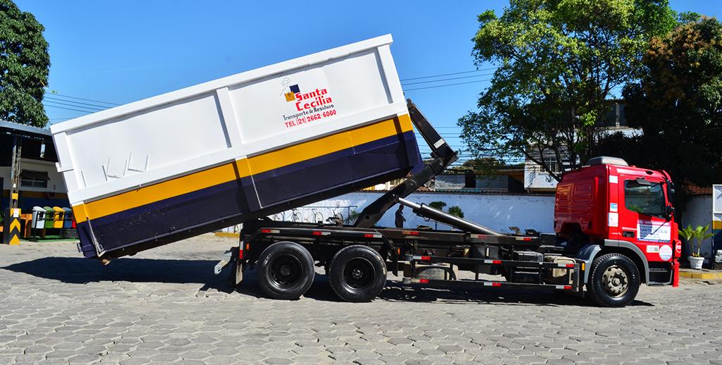 locação de caçambas e caminhões de lixo