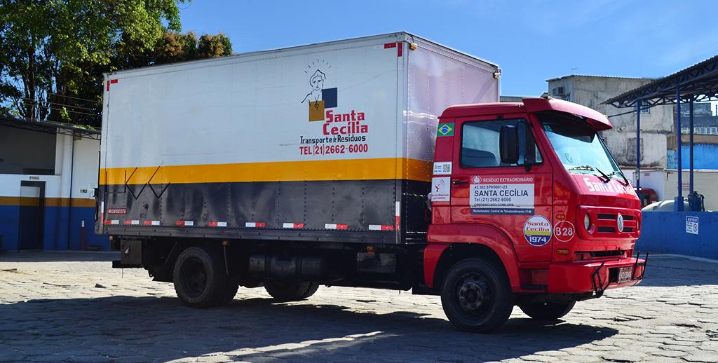 Transporte de resíduos perigosos.