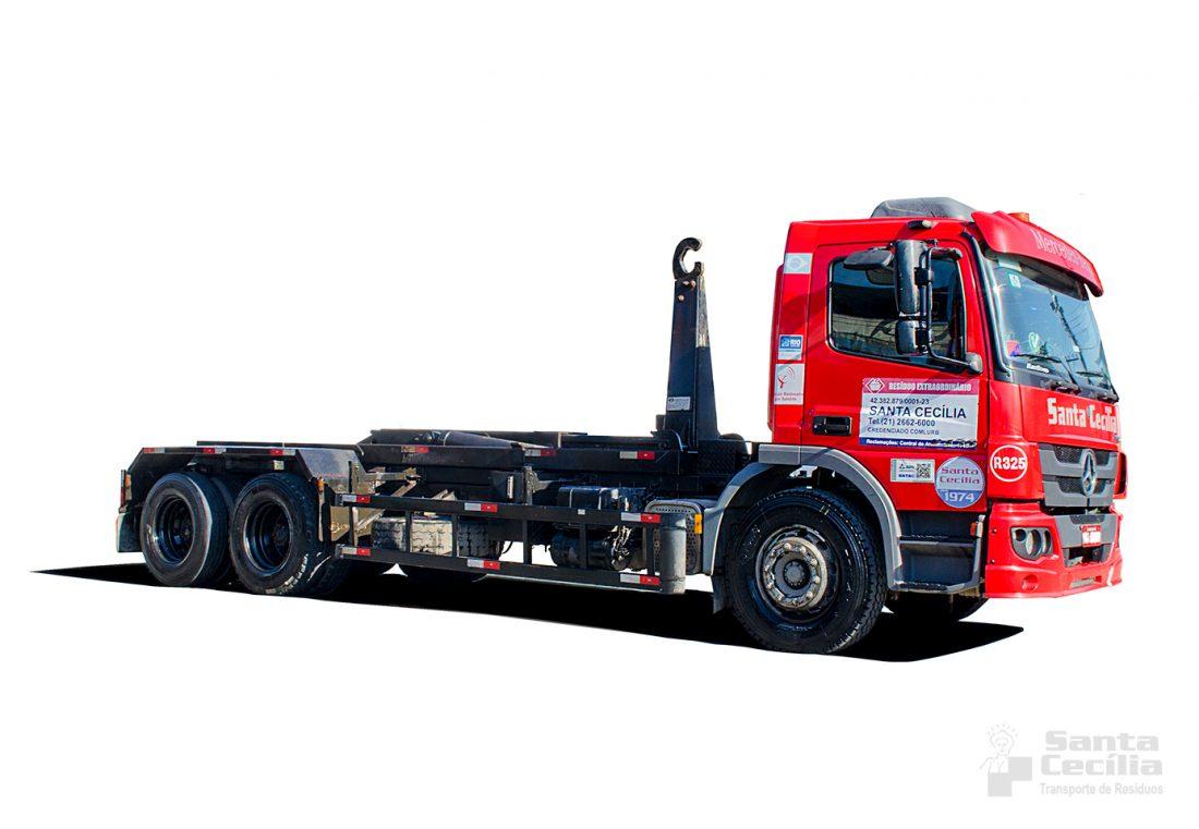 Aluguel de caminhões para coleta e transporte de resíduos.